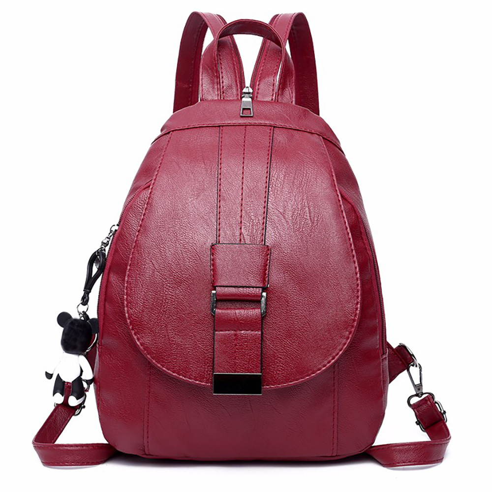 Bags For Women 2019 Leather Backpack Mochila Feminina Bag Multi-purpose Dual-use Sac A Dos Chest Bag Soft Leather Mother Bag