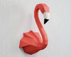 DIY бумажная голова животного Лебедь Фламинго Настенное подвесное крепление игрушка принцесса кукла для девочки детский подарок Детская ко...