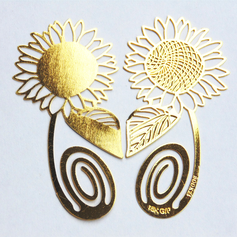 Office & School Supplies Metal Sunflower Bookmark Sheet Metal Gift Souvenir Book Reading For Books