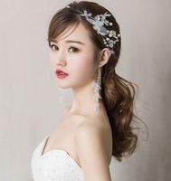 2018 new design white fairy flowers wedding bridal Hair acessories SET gifts sweet lady party TS059 SHOW proms dress headpiece