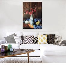 Red Flowers Painting for Home Decorative Plum Blossom Still Life Hand Painted Oil Artwork Bedroom Living Room Christmas Gifts