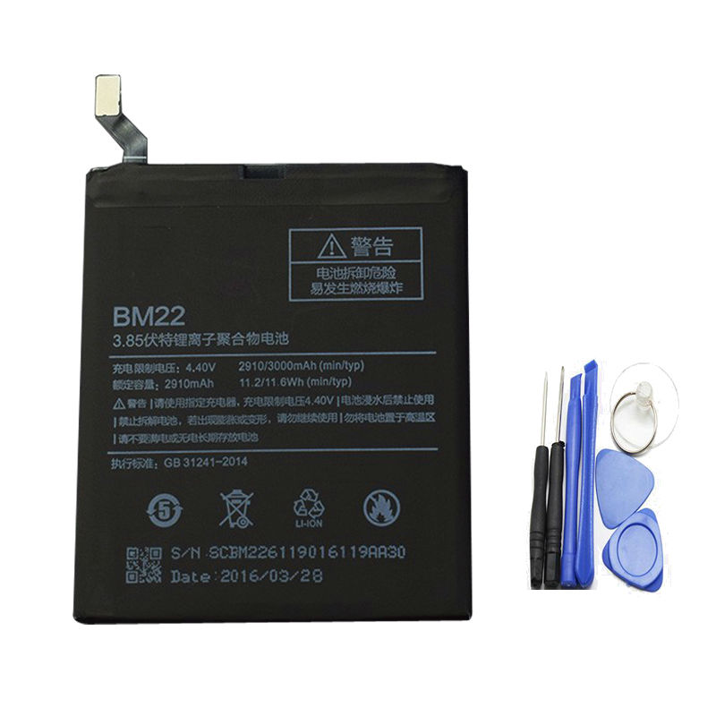 For Xiaomi Mi5 Battery 2910Mah BM22 100% new Replacement