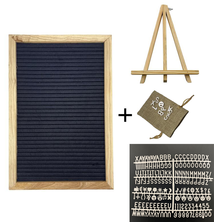 Felt Letter Board Changeable Message Board Decorative Quote Display Board With 340 Letters Easel And Drawstring Bag For Home