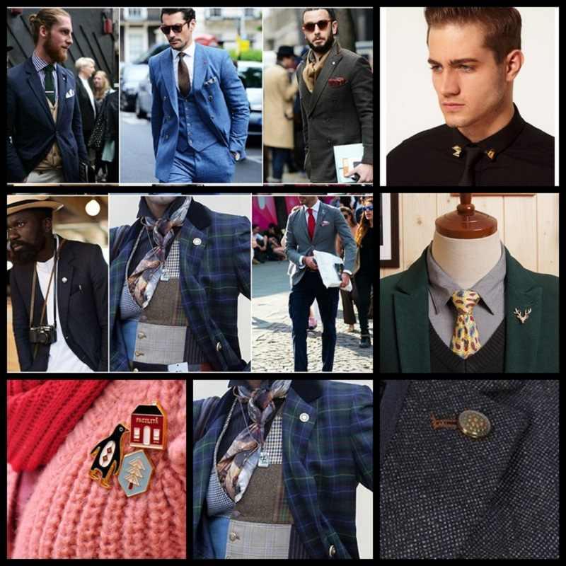 複数のスタイルかわいい動物昆虫シリーズエナメルブローチ襟針男性と Eomen シャツの襟クリップピン服装飾