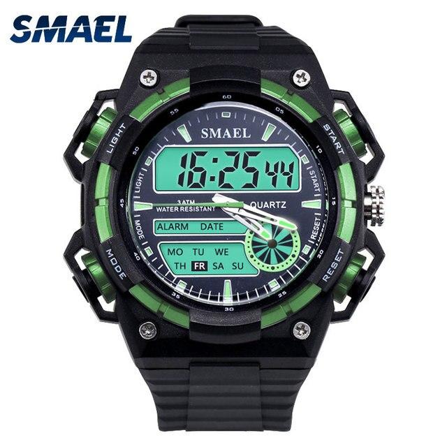 35bc141b6c7 SMAEL Homens Do Exército Relógios Digitais Relógio Do Esporte G Choque  Estilo do Relógio do Homem