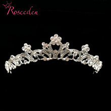 Luxury Wedding Bridal Crystal Tiara Crowns Princess Queen Pageant Prom Rhinestone alloy Headband Hairband RE515