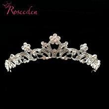 Luxury Wedding Bridal Crystal Tiara Crowns Princess Queen Pageant Prom Rhinestone alloy Tiara Headband Wedding Hairband RE515 недорого