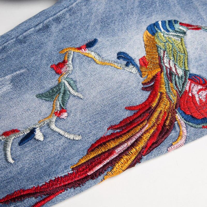 Primavera Siete Light Vaqueros Agujero Blue Pantalones Flojos Estilo Finos Phoenix Y Verano Nuevo Niza Bordado Mujeres Harlan UBwqpp1x