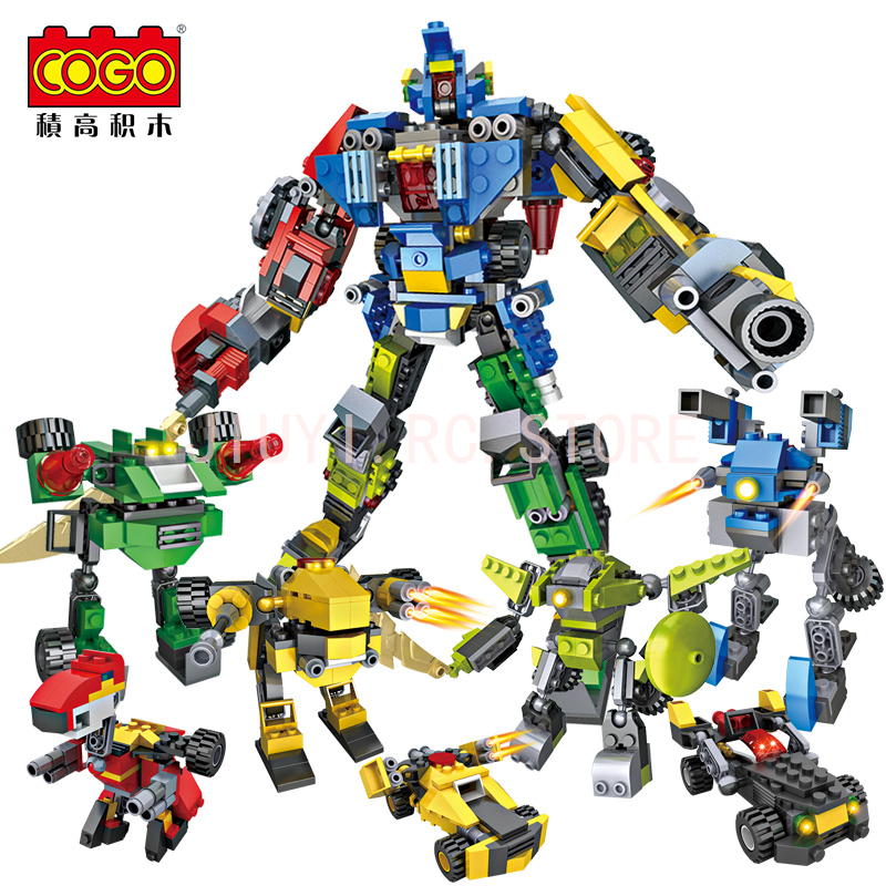 8in1 Deformation Robot Similar TransformersS Building Block 739Pieces Compatible Legos As Children Educational Toys gudi block city large passenger plane airplane block assembly compatible all brand building blocks educational toys for children