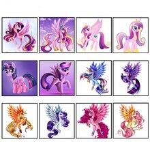 Сделай Сам один рог Картина лошадь полностью Квадратный бриллиант, 5D с вышивкой из страз Стразовая вышивка картинка бриллиантов случайная отправка