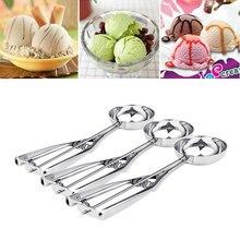 3 Size Kitchen Ice Cream Stainless Steel Spoon