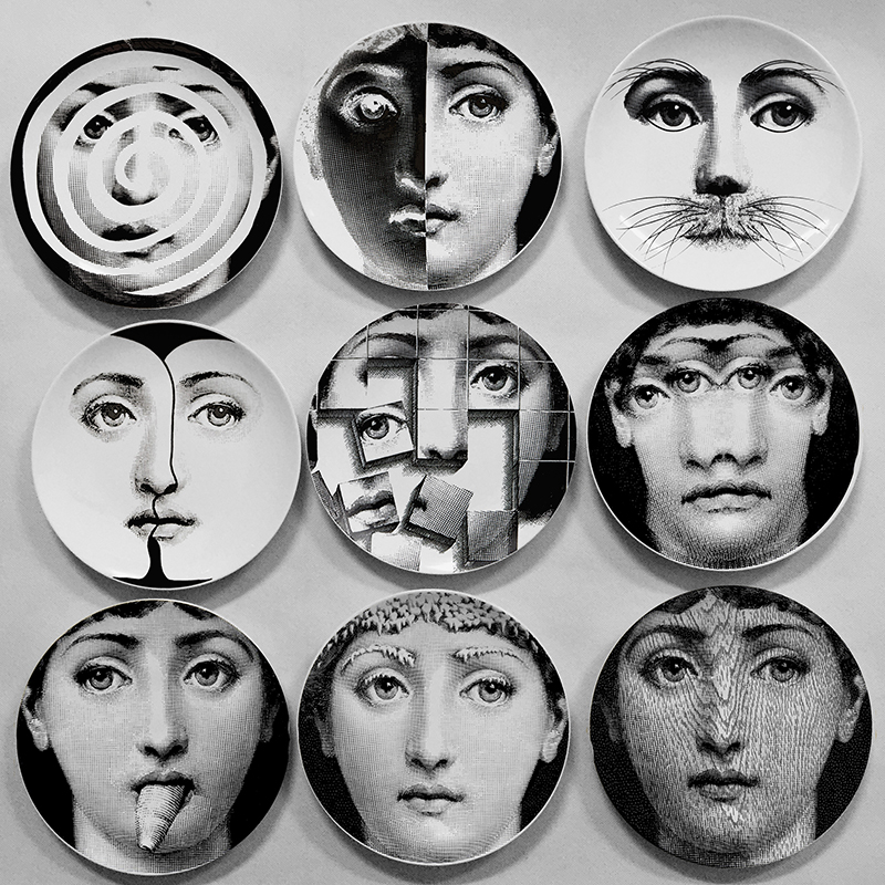 wholesale fashion style milan fornasetti plates decorative wall hanging craft plates for homehotel