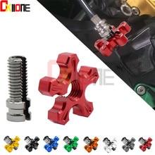 CNC Aluminum Universal Motorcycle Dirt Bike Brake Clutch Wire Adjustment Cable For SUZUKI GSR 600 750 1000 GSR600 GSR750