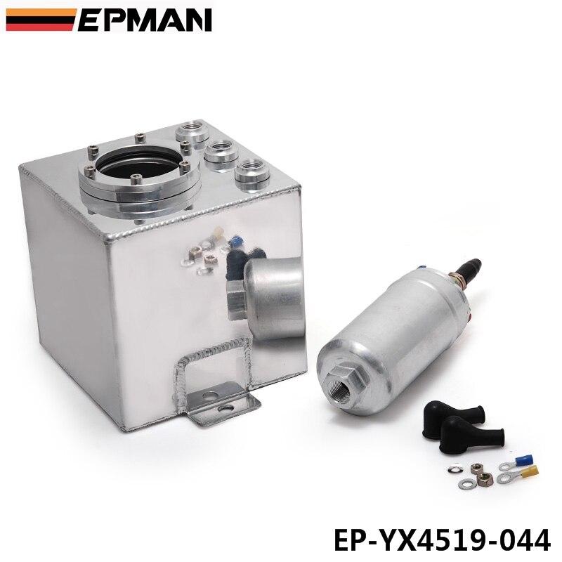 אוניברסלי 2L טנק תפוס שמן אלומיניום/תא דלק/דלק/דלק/דלק יכול עם 044 משאבת דלק EP-YX4519-044