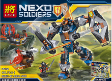 2016 NEW LELE Nexod Knights The Black Knight Mech Building Blocks Minifigures Bricks Toys 70326