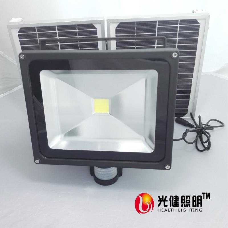 ФОТО pir sensor lamp 30W Solar Light , solar panel 12W led PIR Infrared Motion Security Garden flood  Wall Light ip65 outdoor light