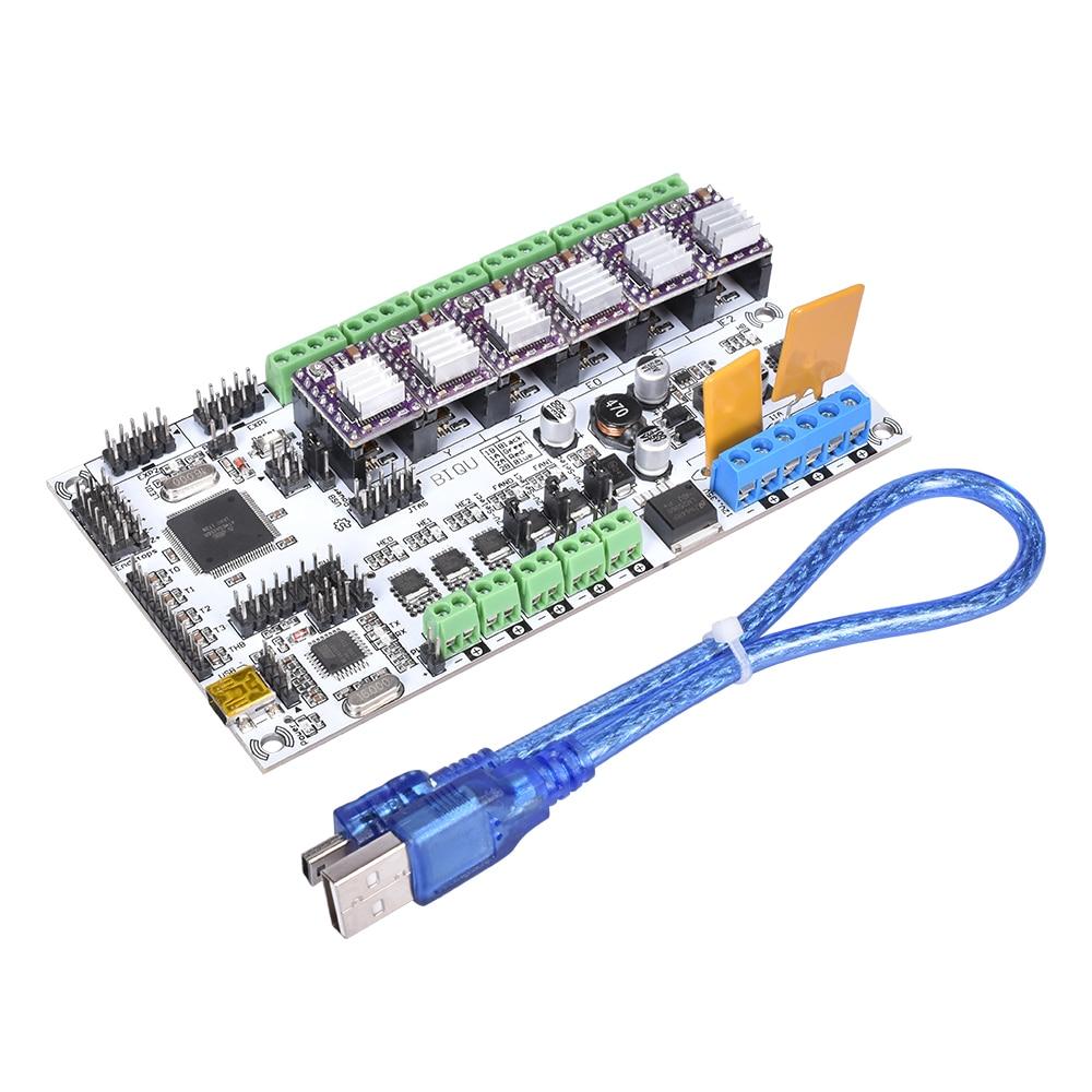 Carte mère imprimante 3D Rumba carte mère MPU/RUMBA avec pilote de moteur A4988 DRV8825 TMC2208 V1.0 TMC2130 pour pièces d'imprimante 3D