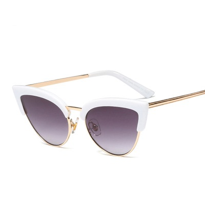COOLSIR Retro Half Frame Women Cat Eye Sunglasses Fashion Gradient Sun Glasses UV400 in Women 39 s Sunglasses from Apparel Accessories