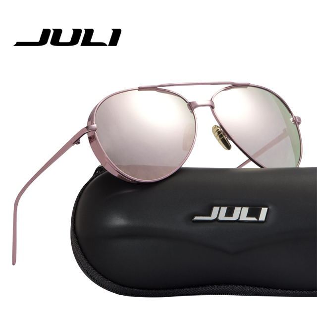 d41f911d4e87 JULI Steampunk Sunglasses Women Fashion Pilot Men BIG BULLY Women Brand  Designer Girls Sun Glasses Metal