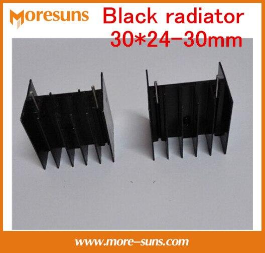 Fast Free Ship 100pcs/lot Black Radiator 30*24-30mm Custom Aluminum Heatsink