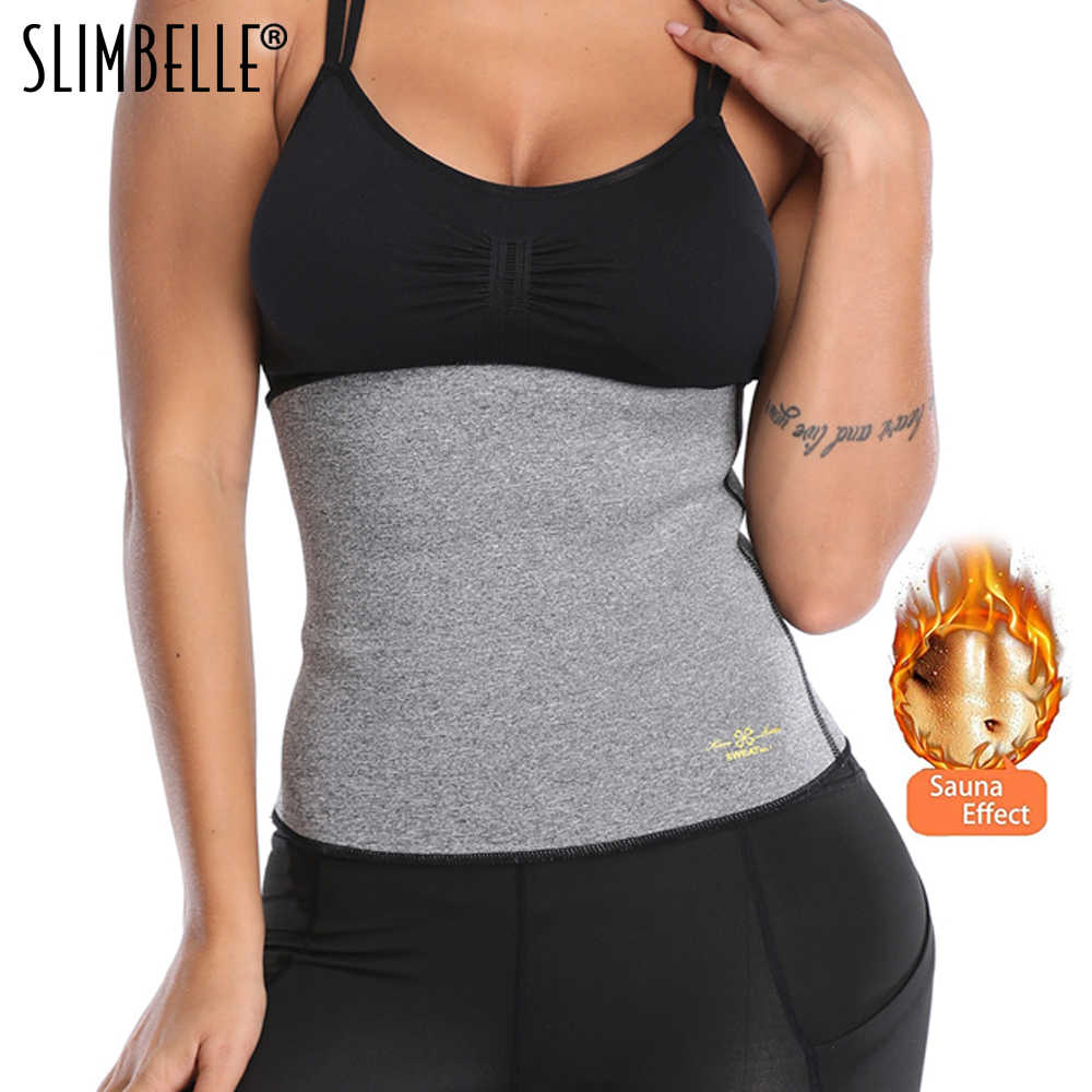 cedd2009f4 Hot Body Shaper Neoprene Slimming Belt Tummy Control Shapewear Stomach Fat  Burner Best Abdominal Workout Sauna
