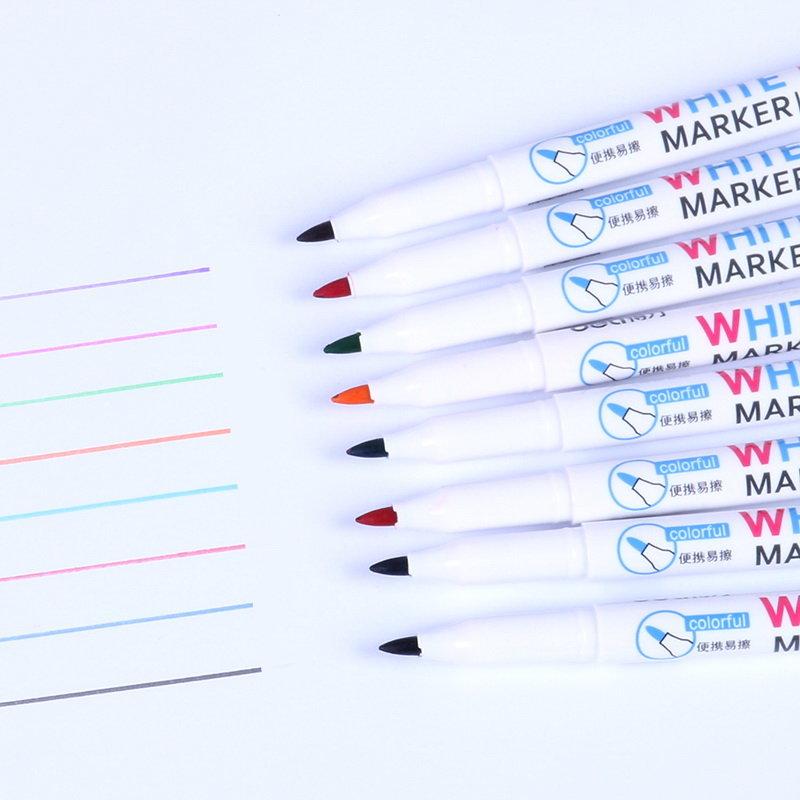 12 color White board Marker Erasable pen for Whiteboard glass metal ceramic Drawing Stationery Office accessories Canetas FB759 in Whiteboard Marker from Office School Supplies