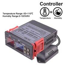 المزدوج ترموستات رقمي درجة الحرارة الرطوبة التحكم STC 3028 ميزان الحرارة الرطوبة تحكم التيار المتناوب 110 فولت 220 فولت تيار مستمر 12 فولت 24 فولت 10A