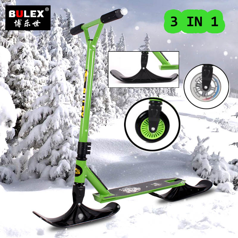 Youth Snow Scooter 3 in 1 Sled Kick Scooter Stunt Scooter
