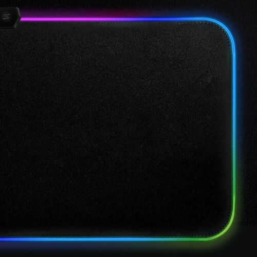 RGB Gaming Mouse Pad Rubber Mat RGB Colorful LED Lighting Gaming Mouse Pad For PC Computer 3D24 6