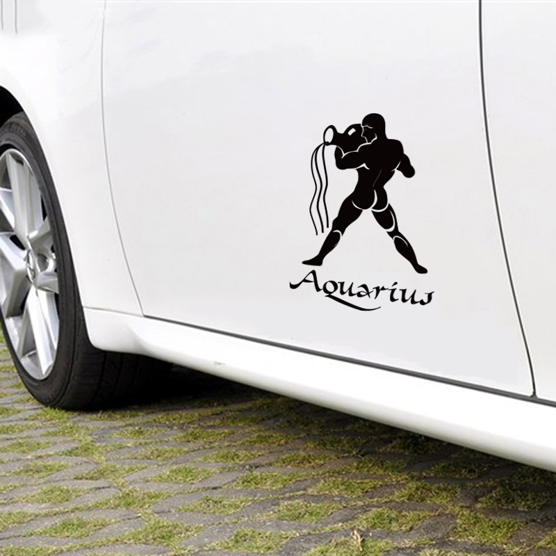 Verseau décoration die cut autocollant de voiture, auto décor vinyle autocollants et décalcomanies, fenêtre de la voiture côté porte queue DIY décor autocollant