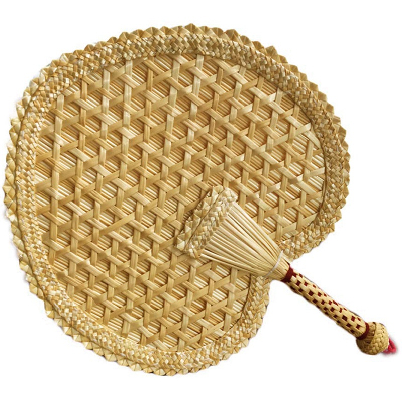 Practical Pure Hand-Woven Wheat Straw Fan Old Man Summer Natural Hand Fan Environmentally Friendly Hand-Woven Fan Decoration