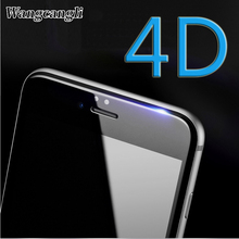 Wangcangli 4D Protective Film for iphone 6 Full Screen Covered Hard Edge Glass 6plus 7 7plus 8 8plus Tempered