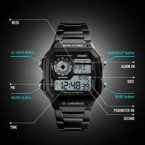 Image 2 - 2019 Top Brand SKMEI Women Men Digital Watch Luxury Calorie Compass Electronic Watch Fashion Sport Bracelet LED dispiay Clock