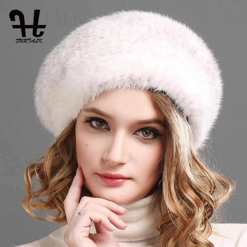 288a93437dccd FURTALK 100% natural mink fur hat women winter fur hats mink fur ...