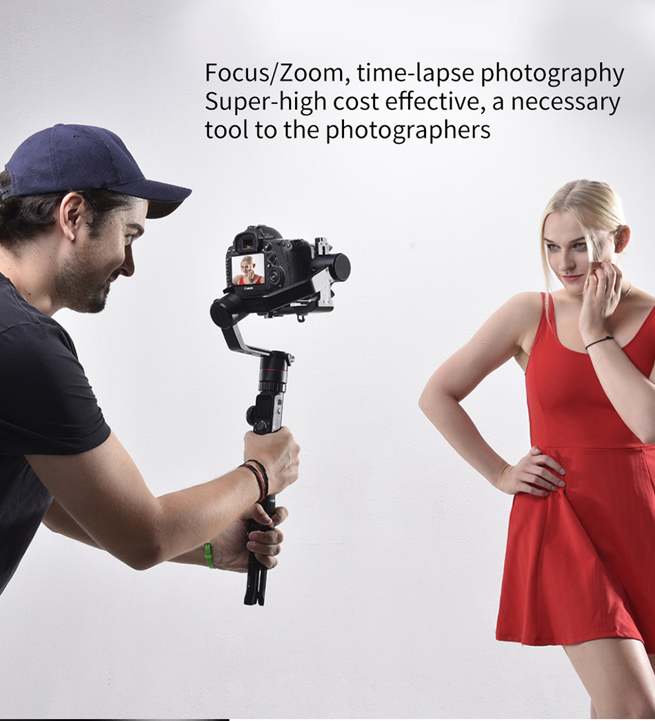 Feiyutech Feiyu AK4000 AK00 3-Axis DSLR Stabilizer Follow Focus Handhel Video Gimbal for Sony Canon Panasonic Nikon cameras 4