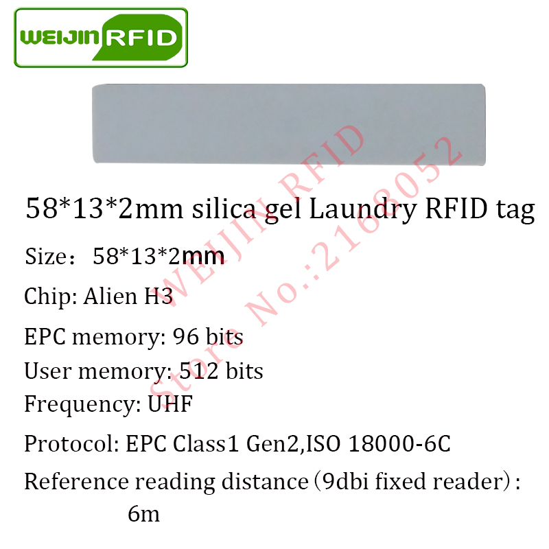 Uhf Rfid Tag Laundry Silica Gel Washable 915mhz 868mhz 860-960mhz Higgs3 Epc 6c 5pcs Free Shipping Smart Card Passive Rfid Tags Access Control Cards
