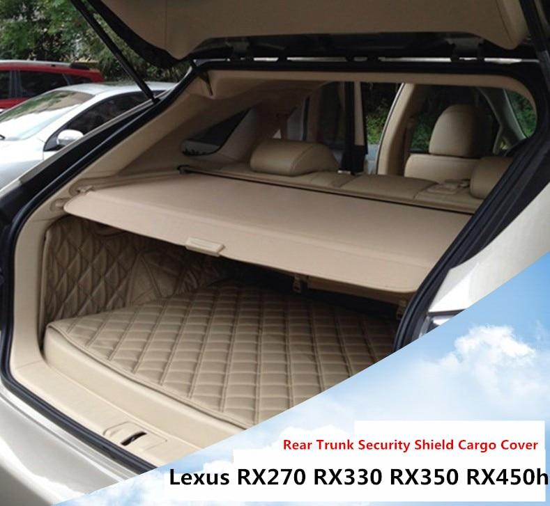 Pour Lexus RX270 RX350 RX450h 2007-2015 couvercle de coffre arrière protection de sécurité écran ombre accessoires de voiture de haute qualité