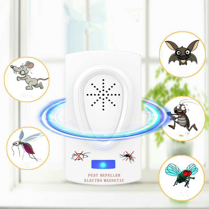 Summer Ultrasound Mouse Cockroach Repeller Device Insect Rats Spiders Killer Pest Control Household Pest Baby Mosquito Repellent