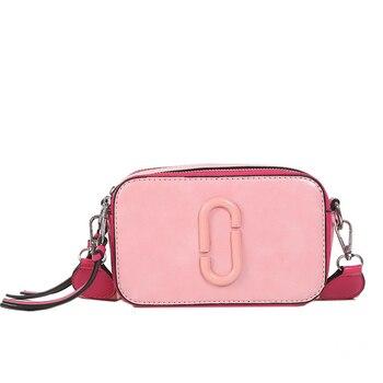 e0e7b6d5f53 2019 clásico pequeño solapa bolso de las mujeres con correa de lona de cuero  de las mujeres bolsos de señora de la moda de la bolsa de mensajero para ...