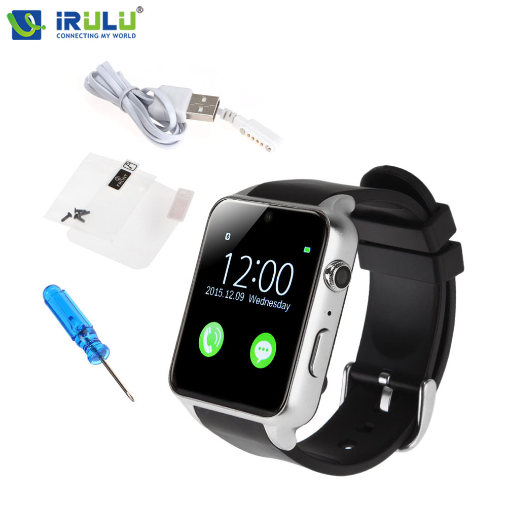 iRULU Exercise Smartwatch Heart Rate Monitor Fitness Tracker Waterproof Bluetooth Relojes Inteligentes For IOS Android Phone leegoal bluetooth smart watch heart rate monitor reminder passometer sleep fitness tracker wrist smartwatch for ios android