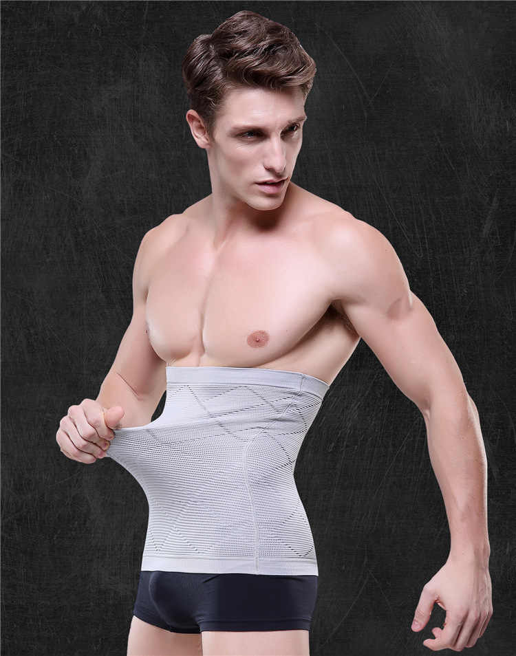 cde849ba3c90e Men Waist Cincher Corsets Slimming Bodyshapers Belly Belt High Waist Tummy  Trainer Control High Elastic Compression