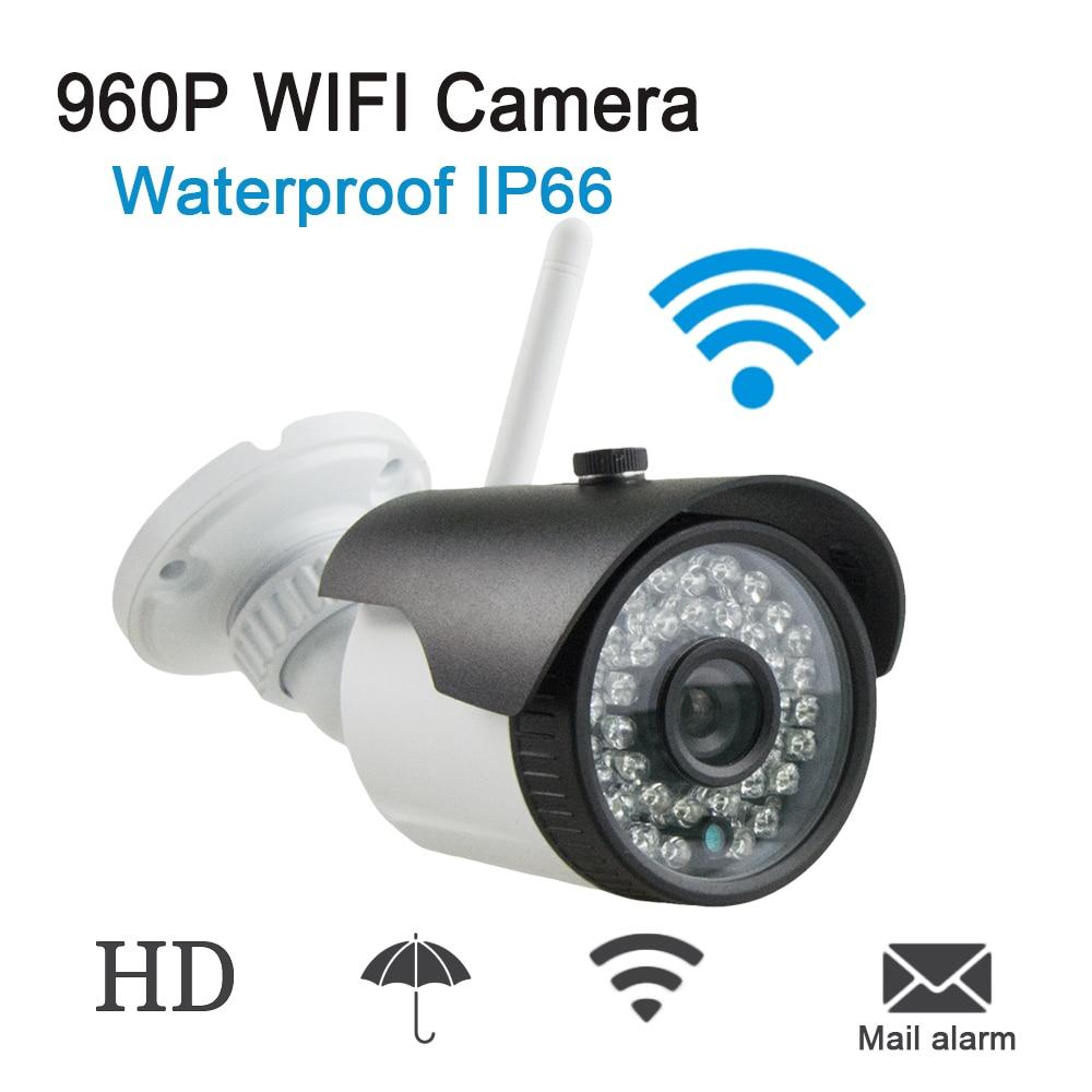 Metal Plastic Audio IP Camera Wifi 802.11b/g/n Wireless Camera 960P HD P2P Bullet Waterproof IP66 Camera IP Outdoor With SD Slot цена