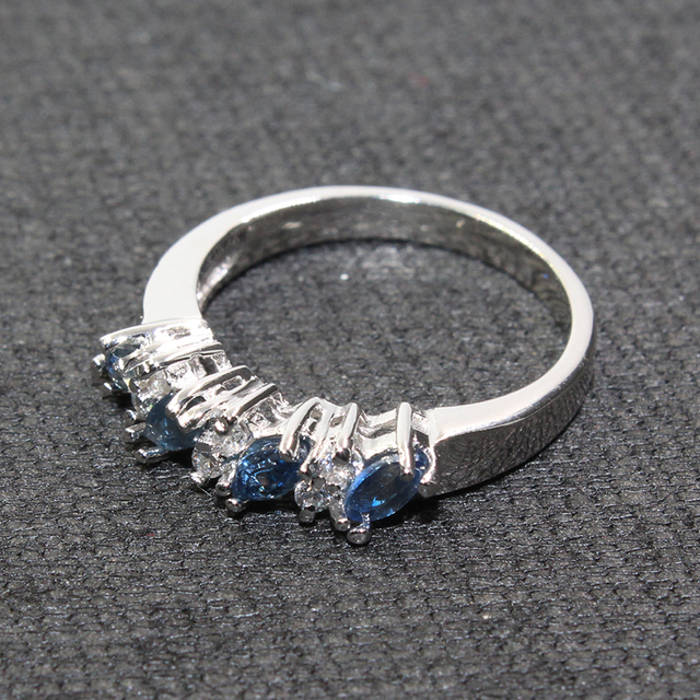 Genuine sapphire ring 925 silver sapphire ring for woman 2 mm * 4 mm marquise cut natural sapphire sterling sapphire jewelry