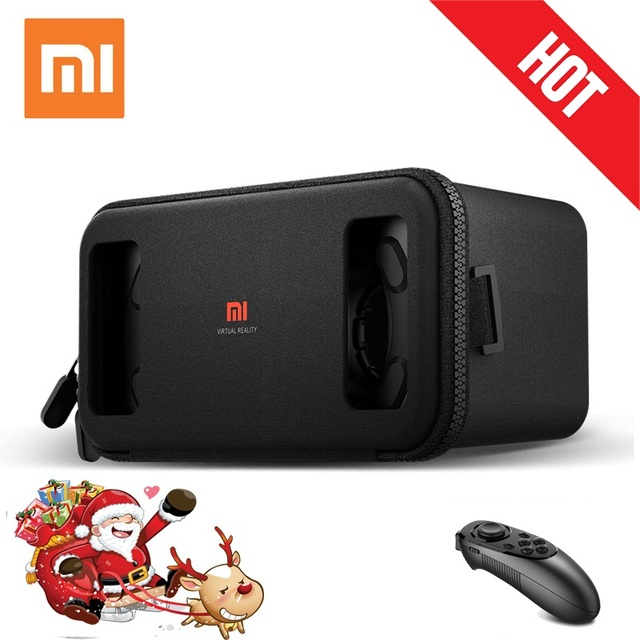 "100% Original Xiaomi Mi VR Play Toy Virtual Reality 3D Glasses VR Box Lycra Material New For 4.7-5.7"" Phone"