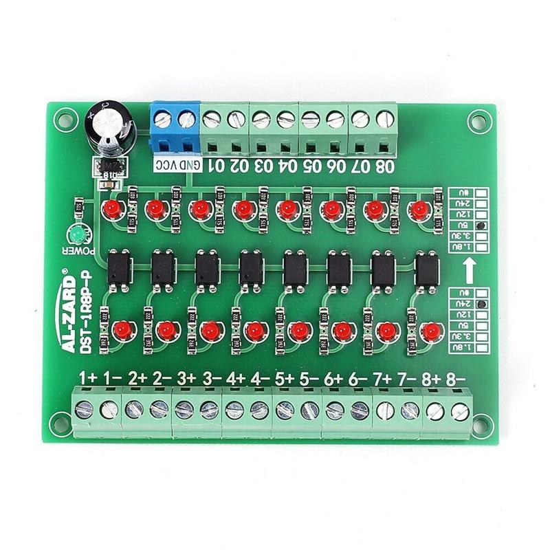 24 V À 5 V 8-Channel 8bit Photoélectrique Isolement Module Niveau Tension Convertisseur PNP Sortie PLC Signal Convertisseur Adaptateur Module