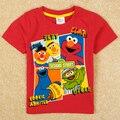Varejo de moda verão camisas marca nova crianças meninos dos desenhos animados Sesame Street figura camisa curta C5006
