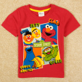 retail fashion children summer kids shirts brand nova kids boys cartoon Sesame Street figure t shirt boys short C5006