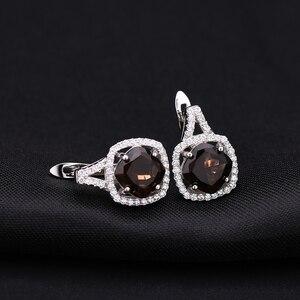 Image 5 - Ensemble de bijoux en Quartz fumé, pour femmes, BALLET, boucles doreilles et pendentif, en argent Sterling 925, pour mariage