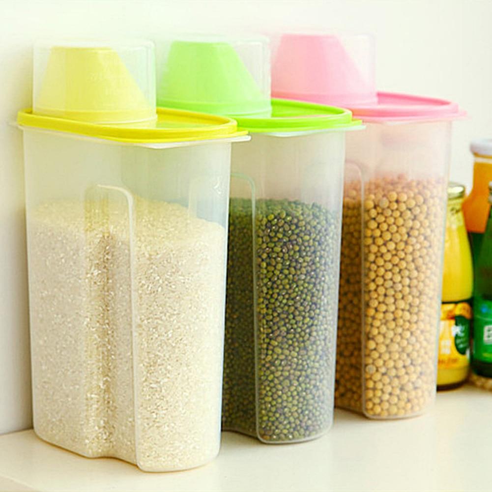 Transparent Plastic Storage Box Dry Dried Food Storage