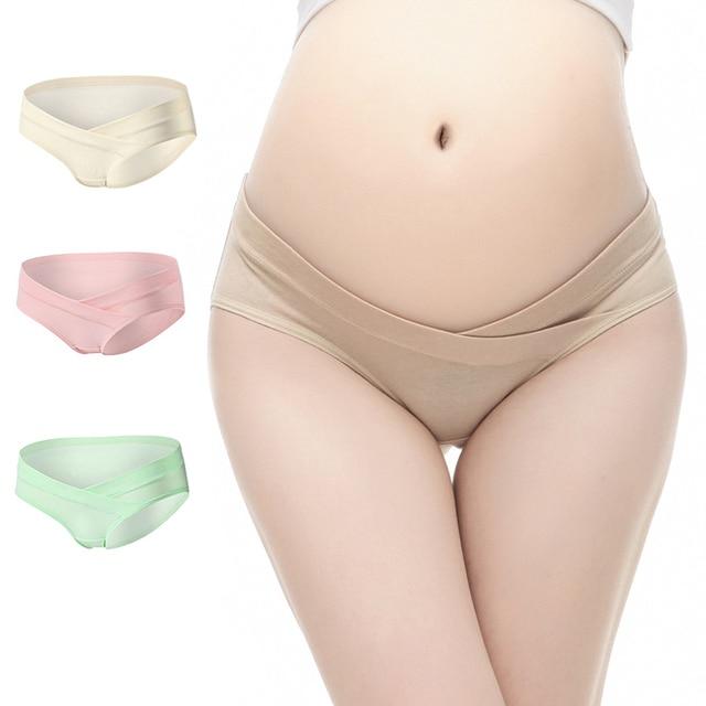 8dafc0c2f83ff 3Pcs Lot U-Shaped Low Waist Maternity Underwear Maternity Panties Cotton Pregnant  Women Underwear